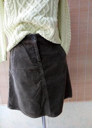 Вельветовая юбка трапеция от h&m