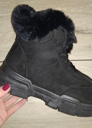 Теплые ботинки зимние женские жіночі зима кроссовки
