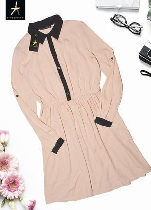Нежно розовое платье рубашка atmosphere