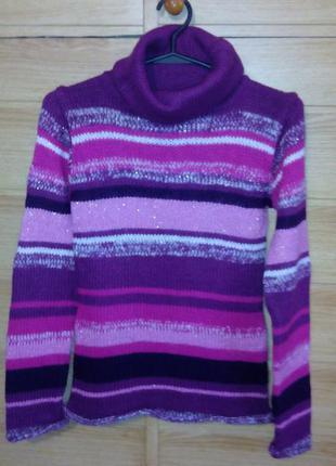 Яркий теплый свитер-гольф h&m