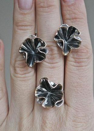 Серебряный набор неаоль (кольцо 18,5) скидка 10%!