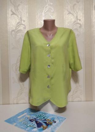 Шелковая рубашка блуза, 100% шелк, lee david