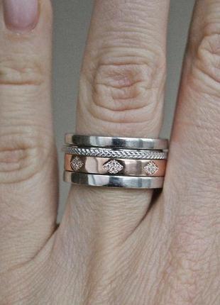 Серебряное кольцо-антистресс оптимус 4 р.17,5