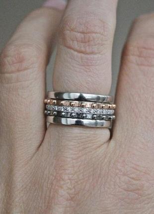 Серебряное кольцо-антистресс оптимус 2 р.17,5