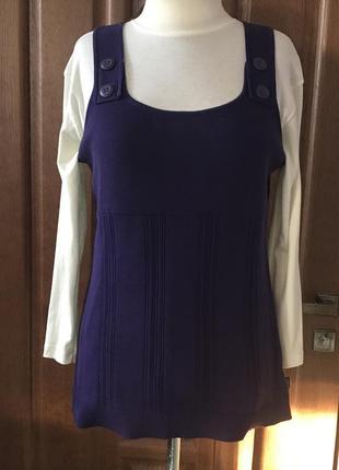 Удлинённый фиолетовый жилет -туника cecil, размер xl.