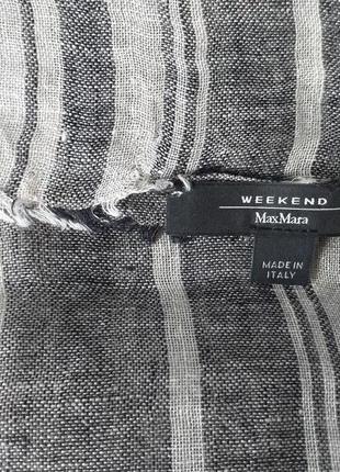 Max mara weekend  льняной шарф-палантин