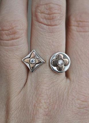 Серебряное кольцо луи в р.17,5-18