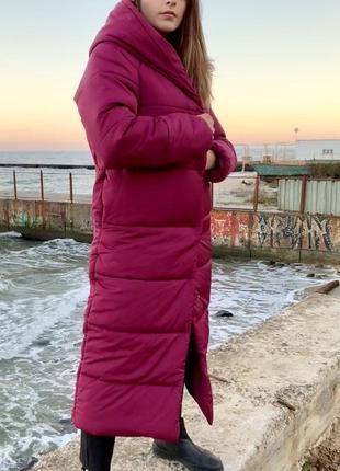 Пуховик зимний marsala