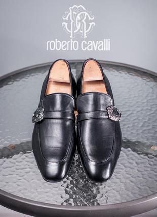 Лоферы премиум класса roberto cavalli, италия 43 мужские туфли кожаные