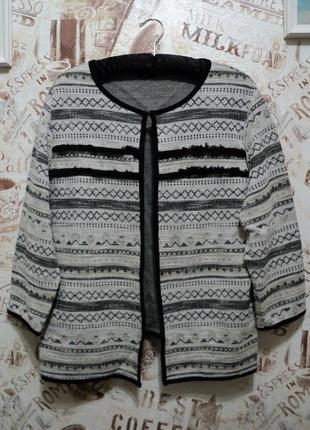 Трикотажный пиджак, накидка f&f