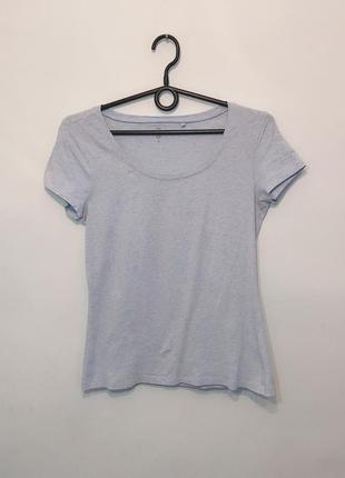 Базовая голубая футболка s