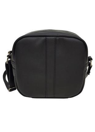 Женская черная сумка через плечо из кожзама