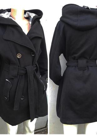 Осенне-весеннее пальто черное