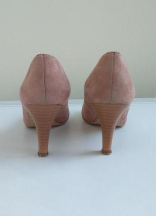 Кремові натуральні замшеві туфлі