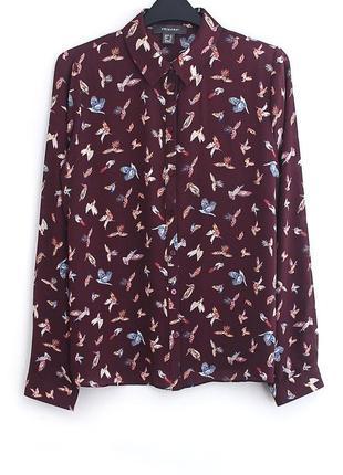 Лёгкая рубашка с птицами primark