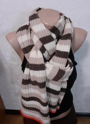 Теплый шерстяной шарф john lewis шерсть ангора