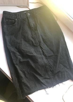 Джинсовая юбка с лампасами calliope
