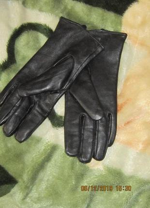 Перчатки кожаные зимние натуральная кожа