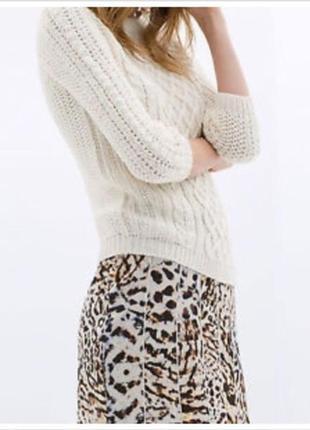 Стильная мини юбка с эластичным поясом леопардовый животный принт