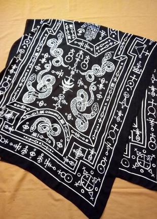 Черно-белый шарф, шаль, парео monki