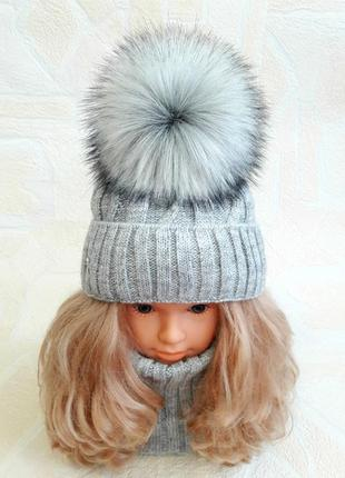 Моднявый комплект шапка хомут