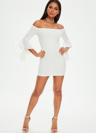 Sale!❤️шикарное белое платье с открытыми плечами от missguided