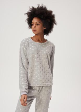 Пижама теплая в горошек + расцветки