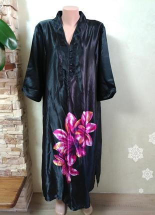 Домашнее платье ночная туника в японском стиле больгой размер uk16/18