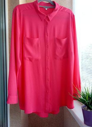 Красивая яркая блуза с длинным рукавом