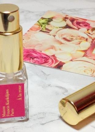 Maison francis kurkdjian a la rose_original_eau de parfum 5 мл затест_парфюм.вода