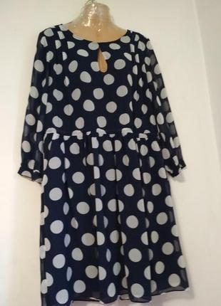 Женское шифоновое платье в горох whistles