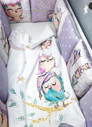 Бортики в кроватку и постельное бельё