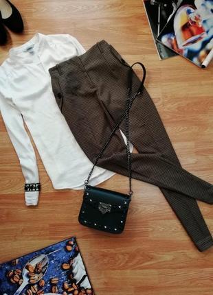Женские суперские стильные брендовые брюки zara - ращмер 44