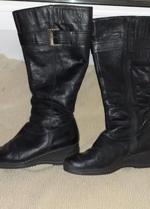 Зимние кожаные сапоги 37р.