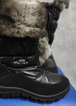 Новые зимние сапоги ботинки черные теплые с мехом
