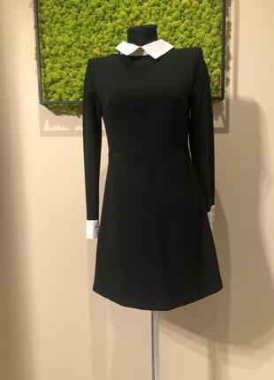 Офисное чёрное платье