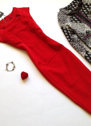 Красное платье футляр миди карандаш marks&spencer
