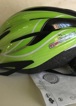 Велосипедный шлем с led подсветкой top-velo германия