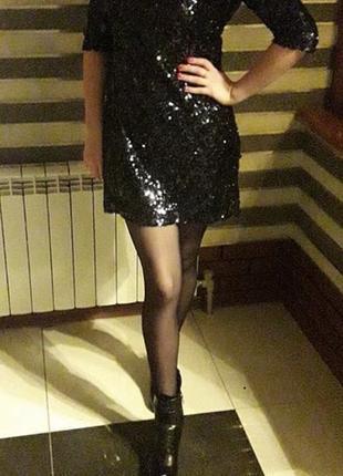 Платье в паетках!