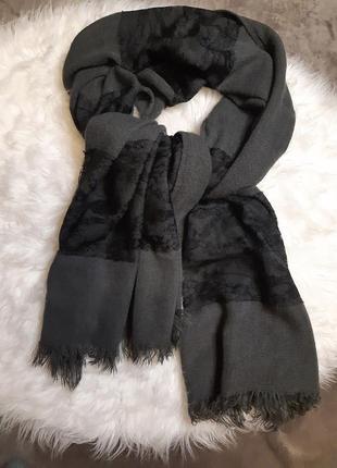 Женский шерстяной шарф палантин