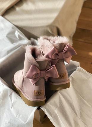Шикарные угги с бантиками ugg bailey bow pink