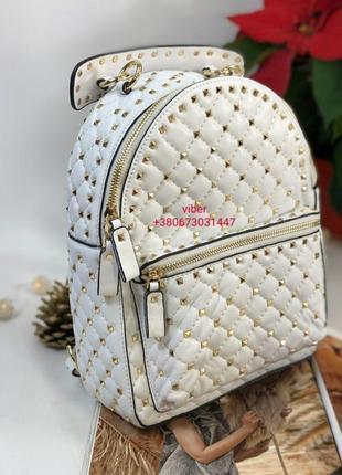 Рюкзак женский кожаный белый