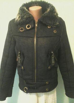 Короткая дубленка куртка, p.m