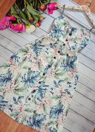 Шикарное платье с пуговицами