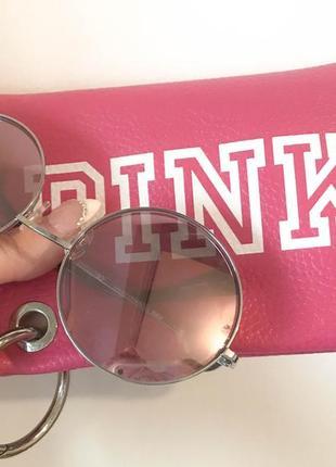 Солнцезащитные очки от victoria's secret pink/розовые круглые очки victoria's secret