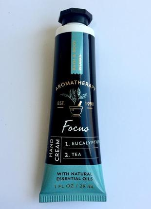 Крем для рук bath & body works aromatherapy focus eucalyptus & tea  29 мл