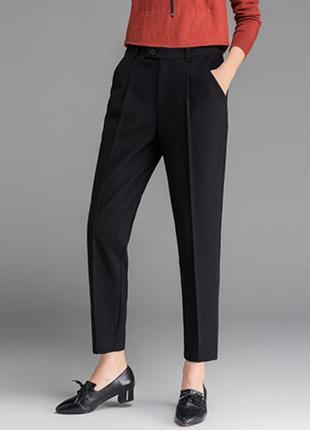 Брюки штаны классика прямые черные с шерстью качественные люкс