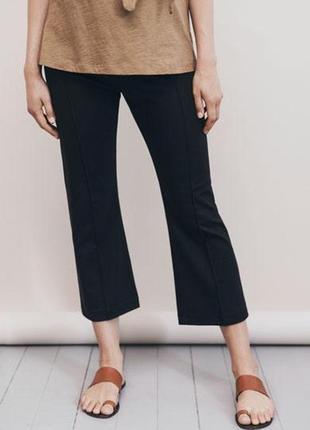 Брюки штаны штани черные укороченные мини клеш классика новые