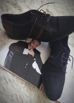 🔥🔥🔥ценопад! мужские туфли на шнуровке нубук
