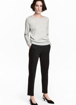 Брюки штаны штани чиносы зауженные укороченные 7/8 в клетку новые качественные h&m